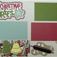 NEW!! Baking up Christmas Memories Premade 2-page 12 X 12 Scrapbooking Page Layout