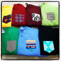 Custom crew cut sweatshirts with pocket