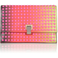 Proenza Schouler | Studded dégradé leather clutch | NET-A-PORTER.COM