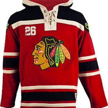 Old Time Hockey Chicago Blackhawks Lace Jersey Fleece Hoodie