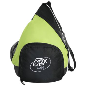 Embroidered Cloud White OBX Lyfe Port Authority Active Sling Pack in 5 Colors