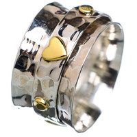Spinner Ring TwoTone Heart