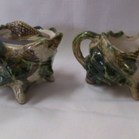 Sugar and Creamer Set-Conch Shell  Pattern (452)
