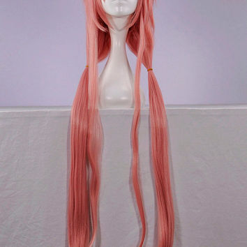 Cheap-100cm-Long-The-Future-Diary-Gasai-Yuno-Light-Pink-Cosplay-Anime-wig NO.NLW184