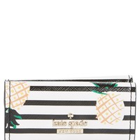 kate spade new york cameron street - kay pineapples glazed canvas wallet | Nordstrom