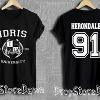 Herondale 91 Shirt IDRIS University Shadowhunters The Mortal Instruments Tshirt Unisex Size T-Shirt