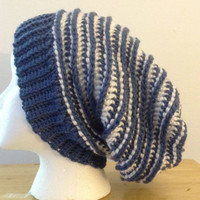 Handmade Out of the Blue Ripple Beanie