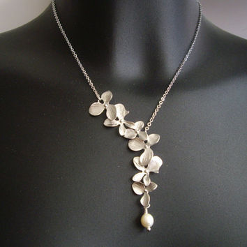 SALE 10 OFF  Asymmetrical flowers cascade by Thedandelionjewelry