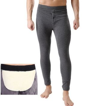2016 Winter Plus Cashm Men Thermal Tight Underwear Men's Cotton Pants Long Johns Plus Size Polyester Super Soft Underwear