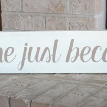 Kiss Me Just Because Wood Sign - Rustic - Shabby Chic - Home Decor - Wall Hanging