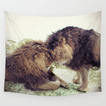 Brothers - 1 Wall Tapestry by Lena Owens/OLenaArt