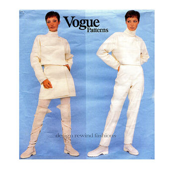MONTANA Vogue 1484 PARIS ORIGINAL Cropped Jacket Tapered Leg Pants Wrap Skirt Pattern Size 6 8 10 UNCuT Womens Sewing Patterns 1990s