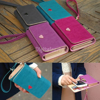 2014 new multifunction women wallets, Coin Case purse for phone,Card Wallet Leather Purse 18282