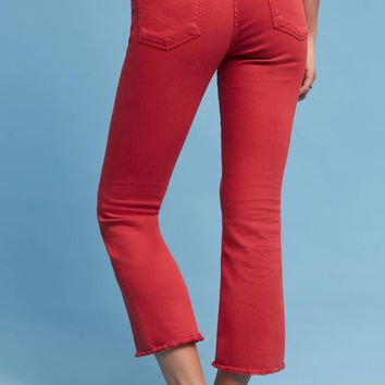 Pilcro Script High-Rise Cropped Flares