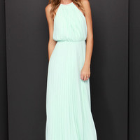 Bariano Melissa Mint Maxi Dress