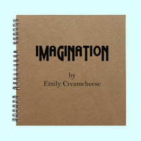 Imagination by Emily Creamcheese - Book, Large Journal, Personalized Book, Personalized Journal, , Sketchbook, Scrapbook, Smashbook