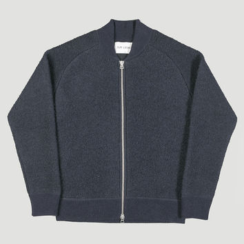 Our Legacy Bomber Knit Shaggy Blue