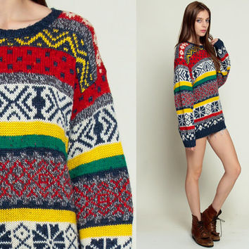 Shop Wool Fair Isle Sweater on Wanelo