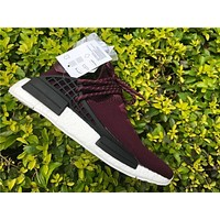 Adidas N M D Wine red Basketball Shoes 40-47