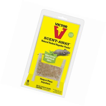 Victor M805 Scent-Away Natural Rodent Repeller Packs - Five Bags