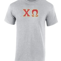 Chi Omega Twill Letter Tee