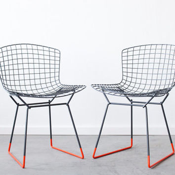 BERTOIA for KNOLL Custom Dipped Pair of Side Chairs by castandcrew
