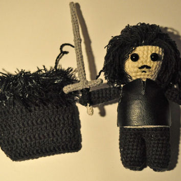 Jon Snow / game of thrones / amigurumi Jon Snow