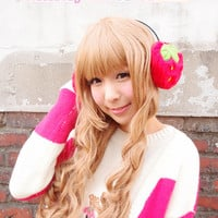Strawberry Ear muffs from Pinkly Ever After