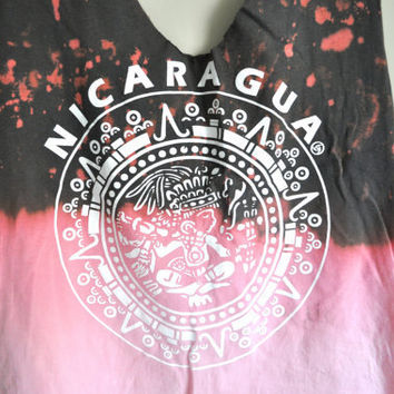 """bleached ombre """"nicaragua"""" cropped tank"""