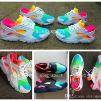 2016 Fashion Air Huarache Ultra Running Shoes Huaraches Rainbow Ultra Breathe Shoes Men & Women Huraches Multicolor Sneakers Size 36-46
