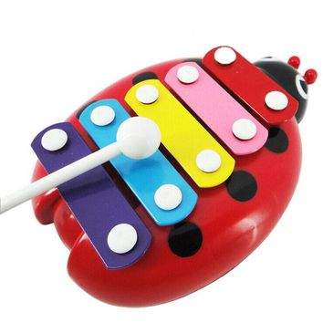 Hot Baby Child Kid 5-Note Musical Toys Wisdom Development Beetle For Children Birthday Christmas gifts