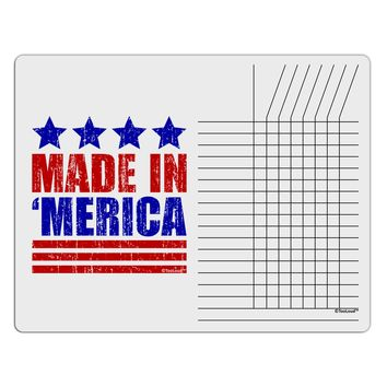 Made in Merica - Stars and Stripes Color Design Chore List Grid Dry Erase Board