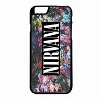 Nirvana Logo Floral Flower Design iPhone 6 Plus Case