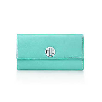 Tiffany & Co. - City clutch wallet in Tiffany Blue® grain leather. More colors available.