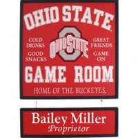 Ohio State Buckeyes Plaque Personalized