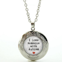 I Love Someone with Autism Pendant