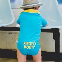 RuggedButts | Blue 'Pirate's Booty' One-Piece