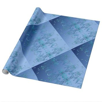 Ornate Blues Wrapping Paper