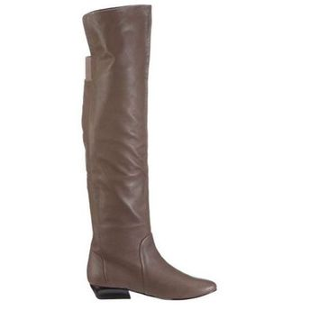 DCCKIN4 Chinese Laundry Tally-Ho- Taupe Over-the Knee Boot