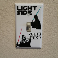 Star Wars Light Switch Cover Plate, Darth Vador, Luke Skywalker, Light Switch, Cover, Star Wars, Light Saber,Funny,Humor