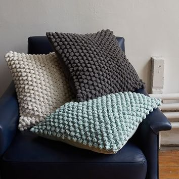 Bubble Knit Pillow Cover - Pale Harbor