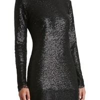 Dress the Population Kate Lace Trim Sequin Dress | Nordstrom