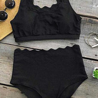 Seaside Tank High-Waisted Bikini Set