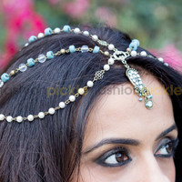 Multi Color Head Band with Droplet Hair Accessories