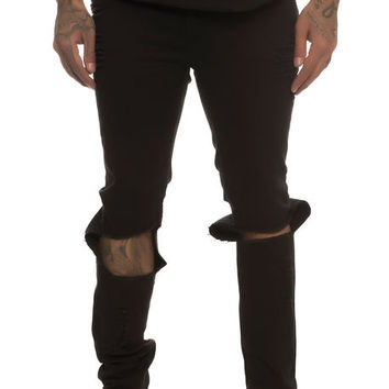 The Tight Destroy Jeans in Black