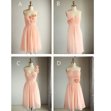 mix match bridesmaid dresses / Romantic / peach color/ dresses /Fairy / Dreamy / Bridesmaid / Party / wedding / Bride (E003)