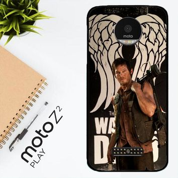 The Walking Dead Daryl Dixon Wings Z2791 Motorola Moto Z2 Play Case