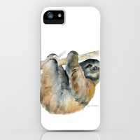 Sloth iPhone & iPod Case by Susan Windsor