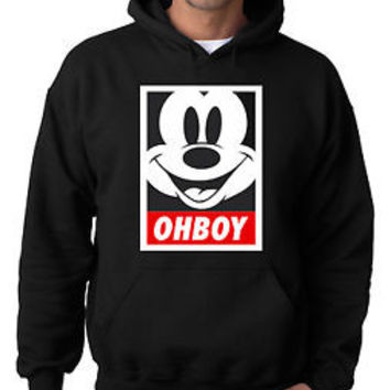 Oh Boy Mickey Mouse Black Pullover Hoodie