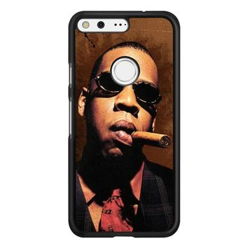 Jay-Z Cigar Glasses Tie Vest 01  Google Pixel Case